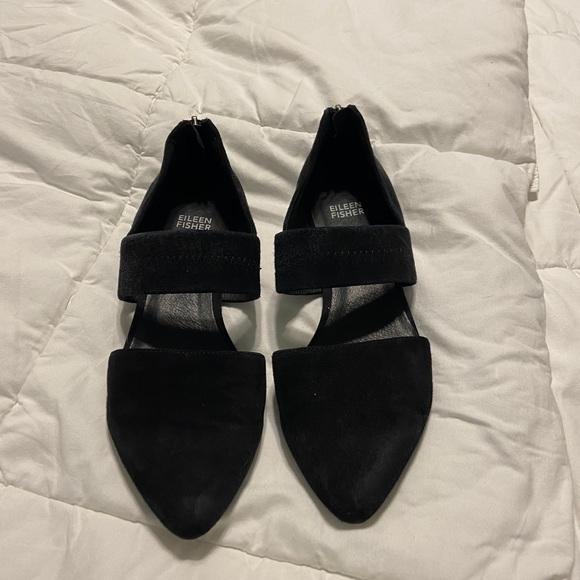 Black Eileen Fisher Flats